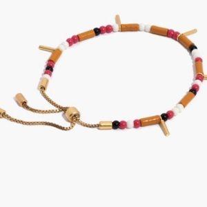 Madewell Mixed Bead Boho Adjustable Bracelet NWOT